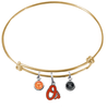 Baltimore Orioles Gold MLB Expandable Wire Bangle Charm Bracelet