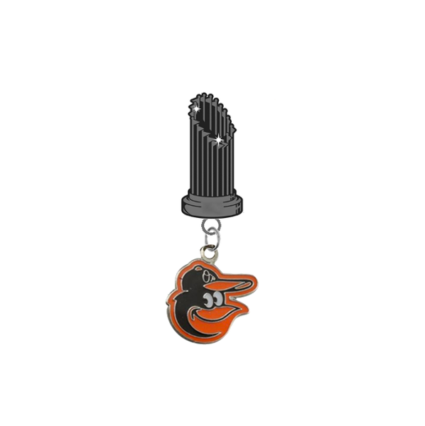 Baltimore Orioles Mascot Logo MLB World Series Trophy Lapel Pin