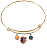 Baltimore Orioles Mascot Logo Gold MLB Expandable Wire Bangle Charm Bracelet