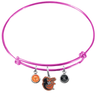 Baltimore Orioles Mascot Logo Pink MLB Expandable Wire Bangle Charm Bracelet