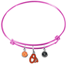 Baltimore Orioles Pink MLB Expandable Wire Bangle Charm Bracelet
