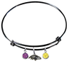 Baltimore Ravens Black NFL Expandable Wire Bangle Charm Bracelet