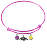 Baltimore Ravens Pink NFL Expandable Wire Bangle Charm Bracelet