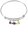 Baltimore Ravens NFL Expandable Wire Bangle Charm Bracelet