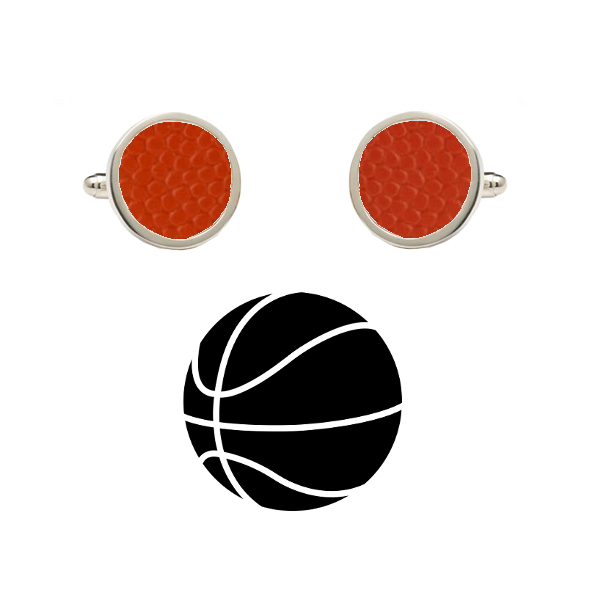 Texas Longhorns Authentic On Court NCAA Basketball Game Ball Cufflinks
