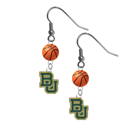 Baylor Bears NCAA Basketball Dangle Earrings