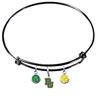 Baylor Bears NCAA Black Expandable Wire Bangle Charm Bracelet