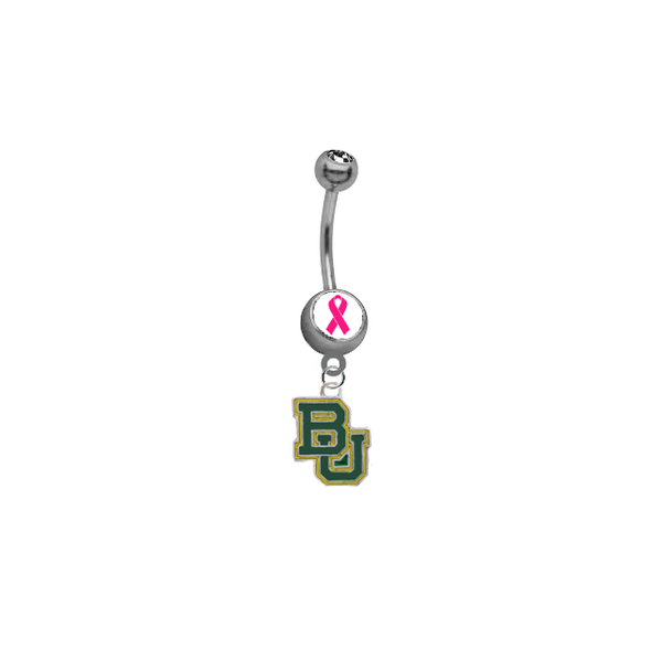 Baylor Bears Breast Cancer Awareness Belly Button Navel Ring