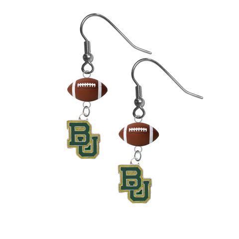 Baylor Bears NCAA Football Dangle Earrings