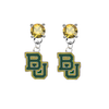 Baylor Bears GOLD Swarovski Crystal Stud Rhinestone Earrings