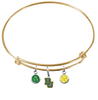Baylor Bears NCAA Gold Expandable Wire Bangle Charm Bracelet