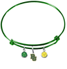 Baylor Bears NCAA Green Expandable Wire Bangle Charm Bracelet