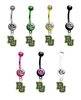 Baylor Bears NCAA College Belly Button Navel Ring - Pick Your Color