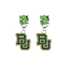 Baylor Bears LIME GREEN Swarovski Crystal Stud Rhinestone Earrings