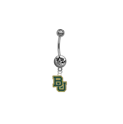 Baylor Bears SILVER College Belly Button Navel Ring