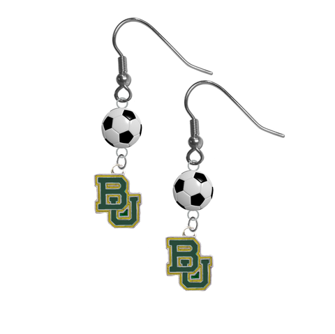 Baylor Bears NCAA Soccer Dangle Earrings