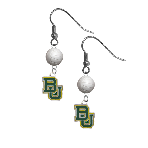 Baylor Bears NCAA Volleyball Dangle Earrings