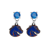 Boise State Broncos 2 BLUE Swarovski Crystal Stud Rhinestone Earrings