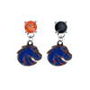 Boise State Broncos 2 ORANGE & BLACK Swarovski Crystal Stud Rhinestone Earrings