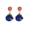Boise State Broncos 2 ORANGE Swarovski Crystal Stud Rhinestone Earrings