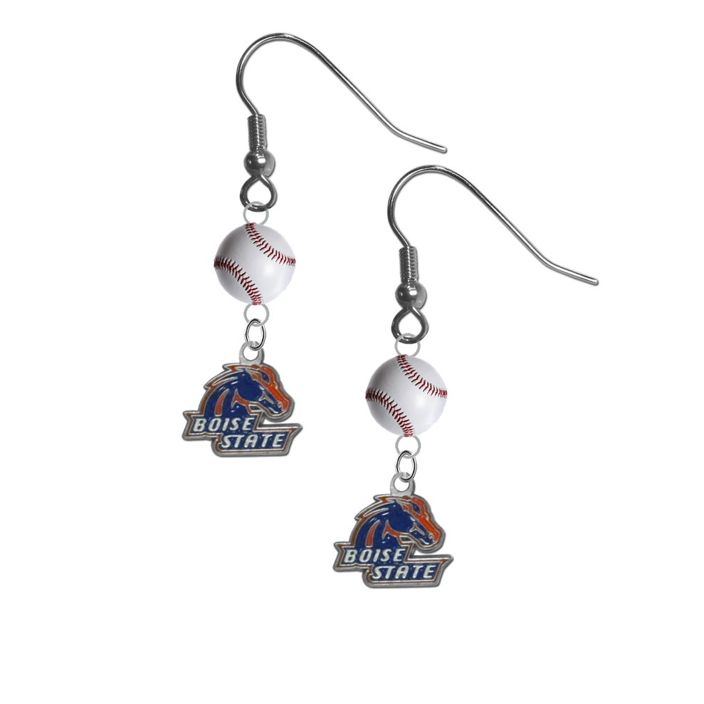 Boise State Broncos NCAA Baseball Dangle Earrings