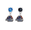Boise State Broncos BLUE & BLACK Swarovski Crystal Stud Rhinestone Earrings