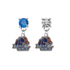 Boise State Broncos BLUE & CLEAR Swarovski Crystal Stud Rhinestone Earrings