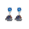 Boise State Broncos BLUE Swarovski Crystal Stud Rhinestone Earrings