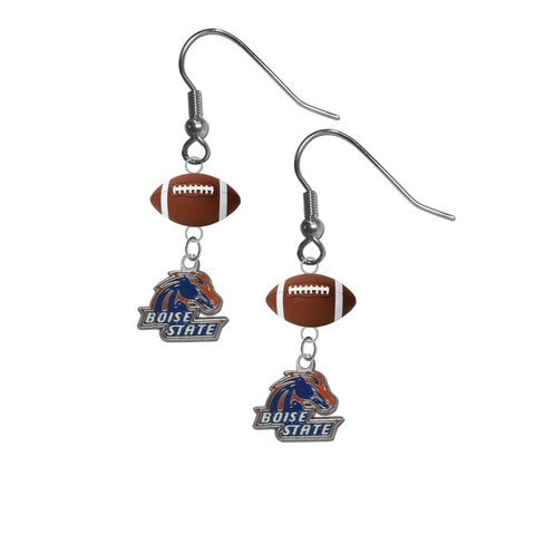 Boise State Broncos NCAA Football Dangle Earrings