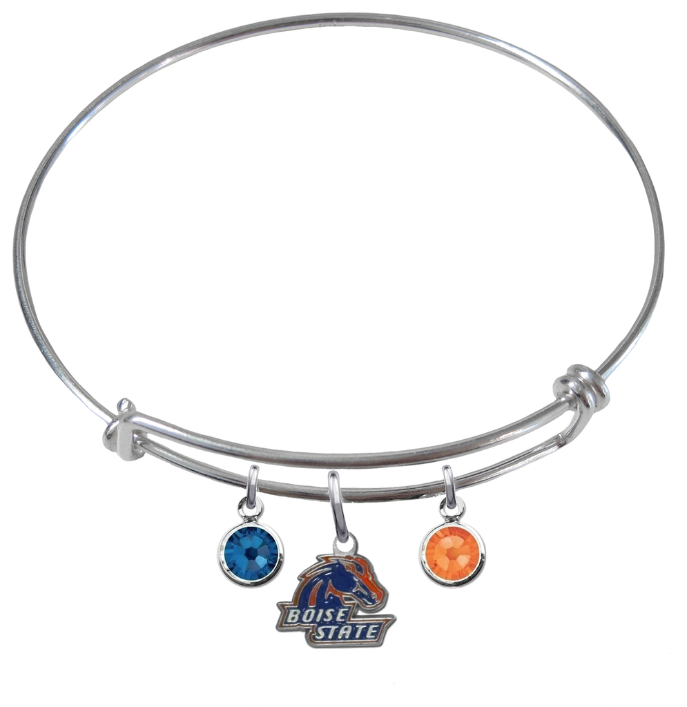 Boise State Broncos NCAA Expandable Wire Bangle Charm Bracelet