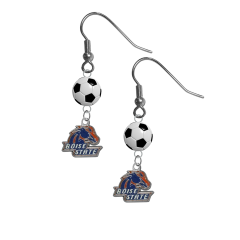 Boise State Broncos NCAA Soccer Dangle Earrings