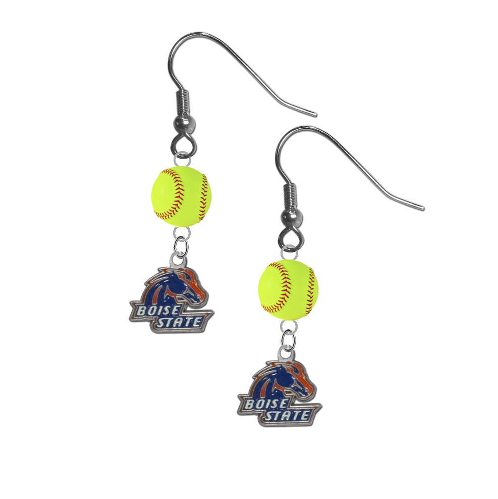 Boise State Broncos NCAA Fastpitch Softball Dangle Earrings
