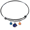 Boise State Broncos Style 2 Black Expandable Wire Bangle Charm Bracelet
