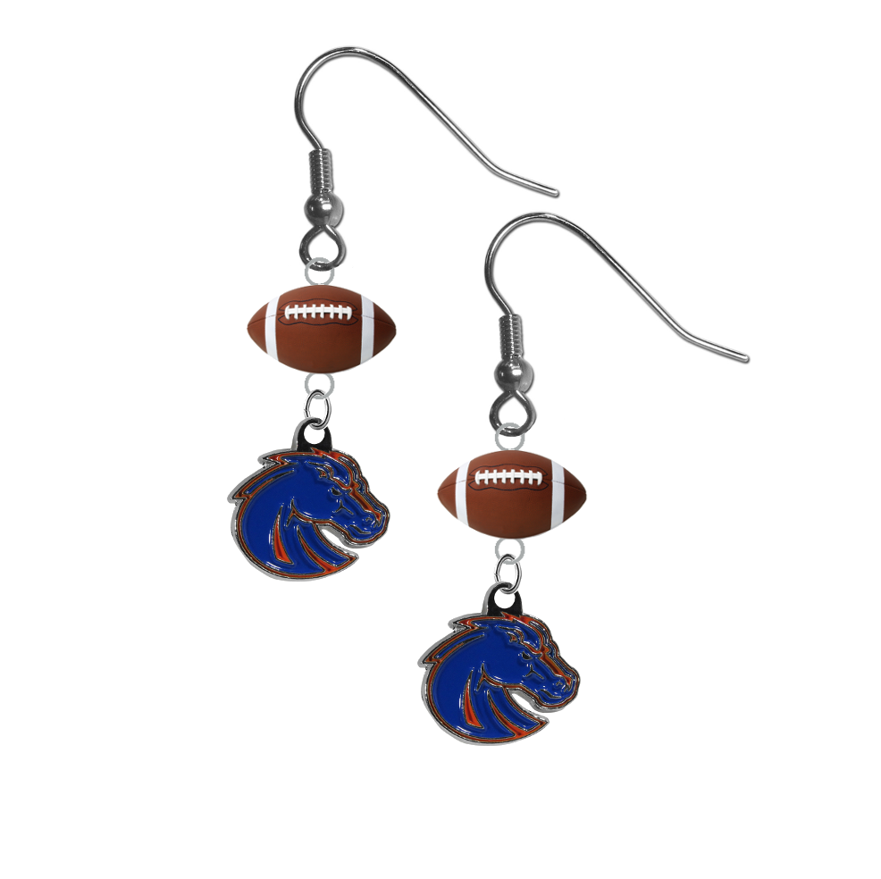 Boise State Broncos Style 2 NCAA Football Dangle Earrings