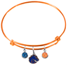 Boise State Broncos Style 2 Orange Expandable Wire Bangle Charm Bracelet