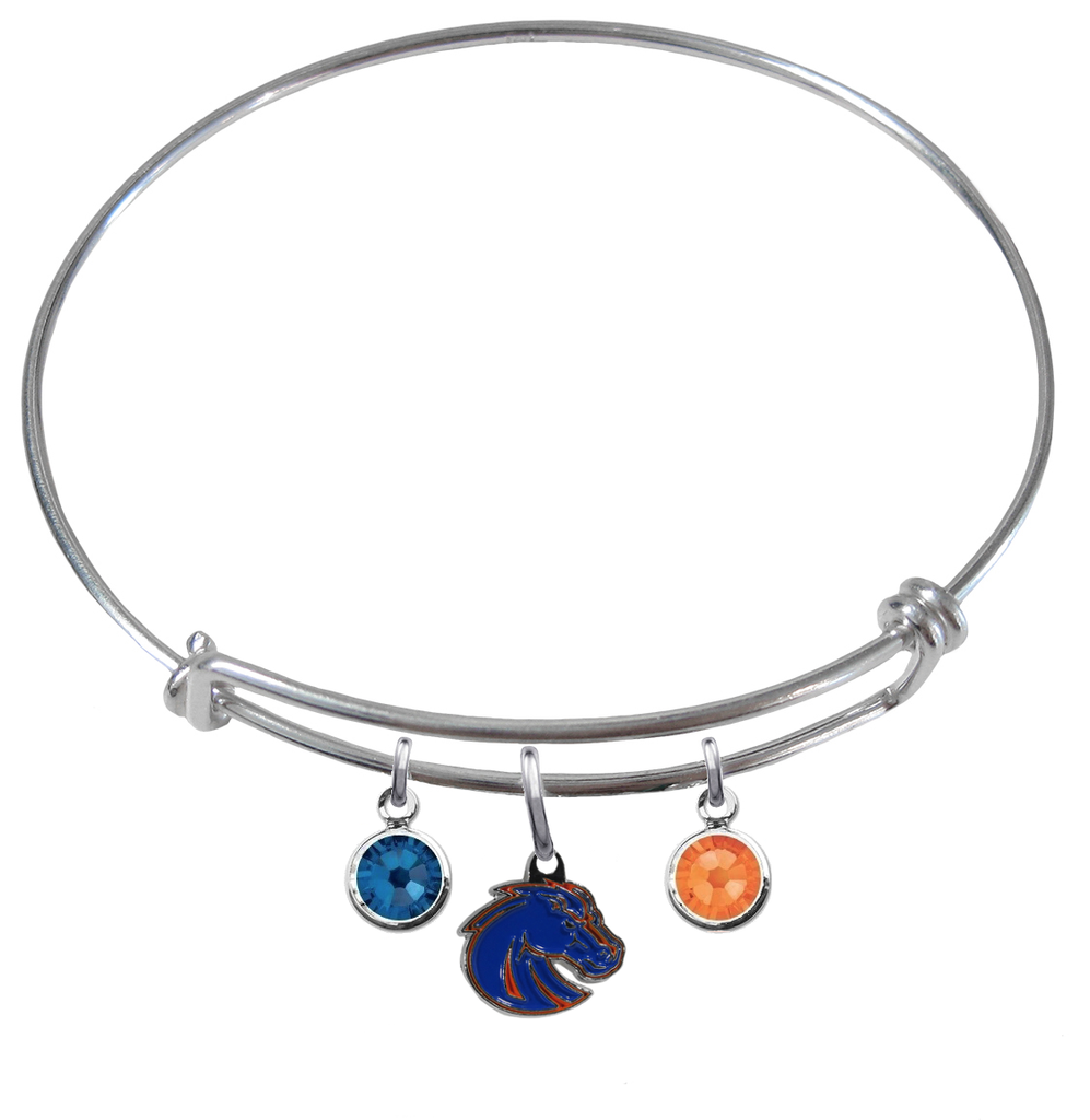 Boise State Broncos Style 2 NCAA Expandable Wire Bangle Charm Bracelet