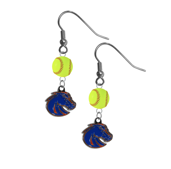 Boise State Broncos Style 2 NCAA Fastpitch Softball Dangle Earrings