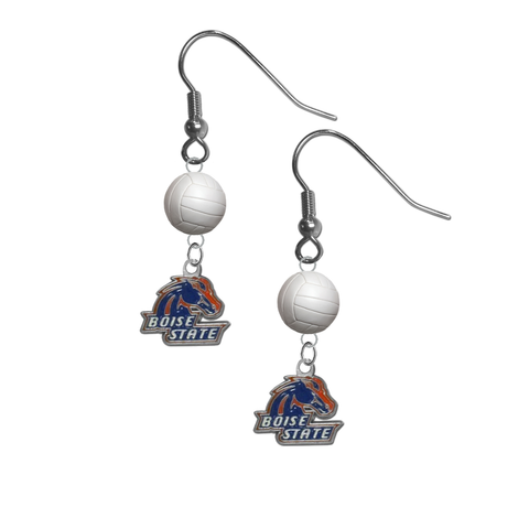 Boise State Broncos NCAA Volleyball Dangle Earrings