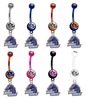 Boise State Broncos NCAA College Belly Button Navel Ring - Pick Your Color