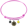 Boston Bruins Color Edition PINK Expandable Wire Bangle Charm Bracelet