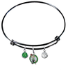 Boston Celtics BLACK Color Edition Expandable Wire Bangle Charm Bracelet