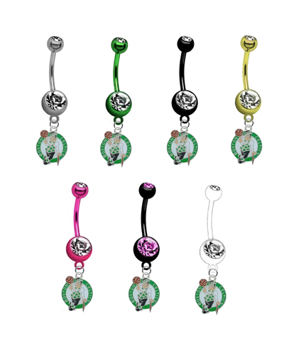 Boston Celtics NBA Basketball Belly Button Navel Ring - Pick Your Color