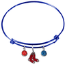 Boston Red Sox Blue MLB Expandable Wire Bangle Charm Bracelet
