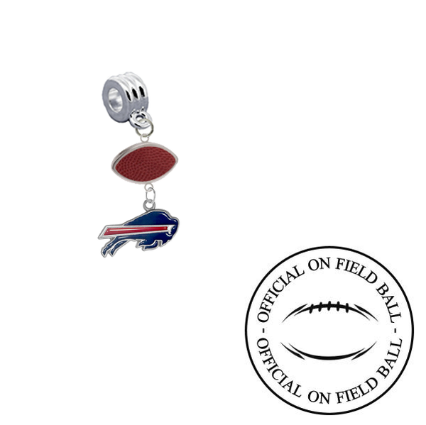 Buffalo Bills On Field Football Universal European Bracelet Charm (Pandora Compatible)