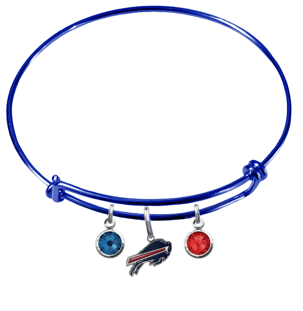 Buffalo Bills Blue NFL Expandable Wire Bangle Charm Bracelet