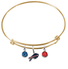 Buffalo Bills Gold NFL Expandable Wire Bangle Charm Bracelet