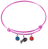 Buffalo Bills Pink NFL Expandable Wire Bangle Charm Bracelet