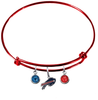 Buffalo Bills Red NFL Expandable Wire Bangle Charm Bracelet