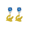 California Golden Bears 2 BLUE Swarovski Crystal Stud Rhinestone Earrings
