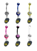 California Cal Golden Bears NCAA College Belly Button Navel Ring - Pick Your Color